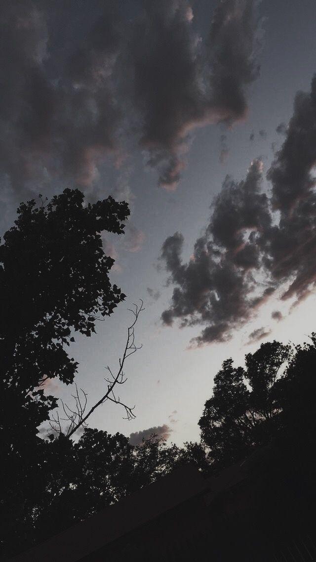 Dark Sky Fotografi Alam Latar Belakang Pemandangan