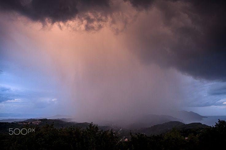 Rain in Corfu - null