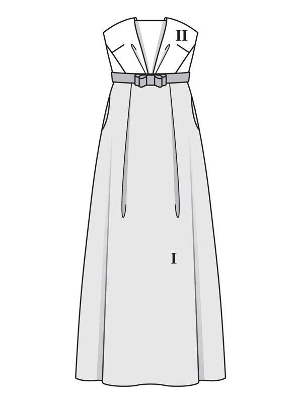 d4eea57b6fe Платье-бюстье для невесты - выкройка № 107 из журнала 3 2018 Burda – выкройки  платьев на