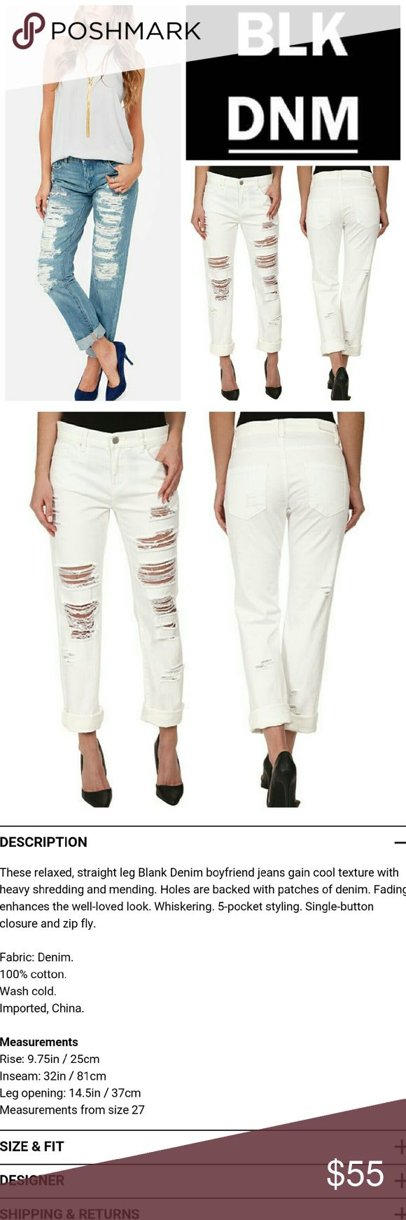 Blank Denim Galaxy Destroyed Straight Leg Jeans Blank Denim Galaxy Destroyed Straight Leg Jeans in white.   No trade, discount with bundle! Considering all reasonable offers made via the blue offer button only! Blank Denim Jeans Straight Leg