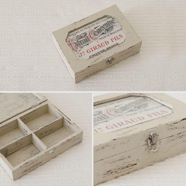 17 mejores im genes sobre cajitas cajas y cajones en - Como decorar cajas de madera estilo vintage ...