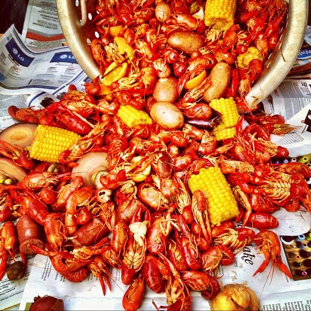 NEED to go to Texas for this! Crawfish Boil