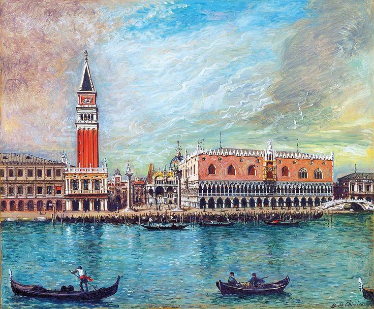 Giorgio De Chirico, Venezia, Palazzo Ducale, 1959. Olio su tela, 50x60 cm