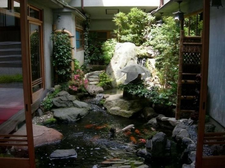Japanese Courtyard Gardens  Garden  Calm Japanese Inspired Courtyard Ideas  Cool Japanese