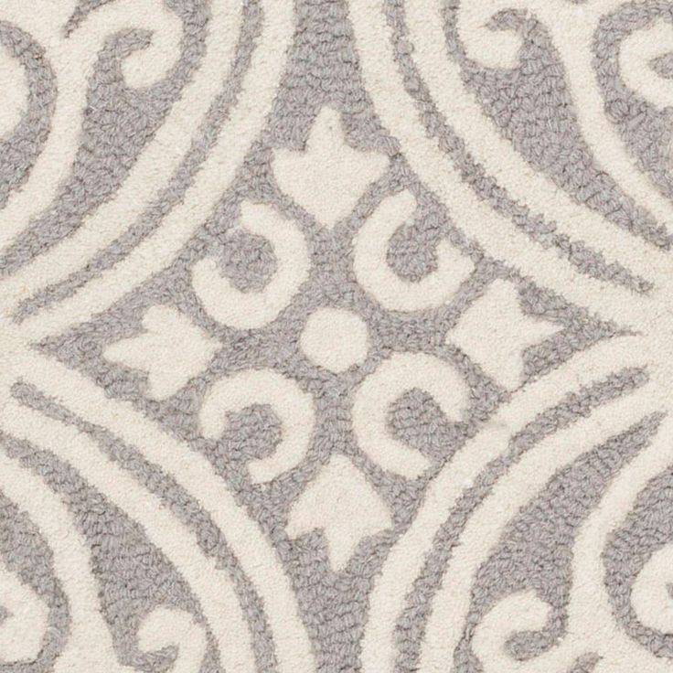 Safavieh Cambridge Silver/Ivory 4 ft. x 4 ft. Round Area Rug - CAM123D-4R - The Home Depot