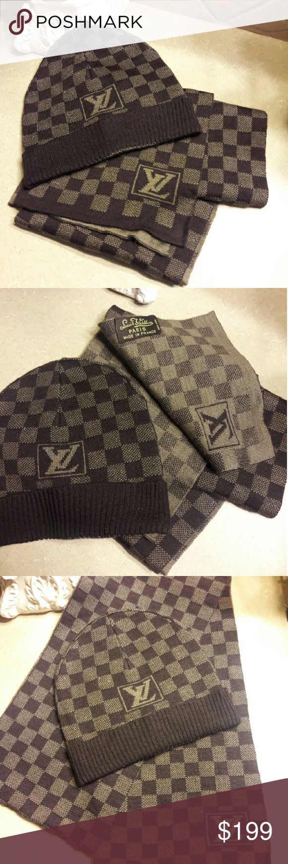 LV Scarf and Beanie LV Scarf and Beanie. Unisex. Not Auth.... Louis  Vuitton. Please ask any questions before buying. Louis Vuitton Accessories Scarves & Wraps