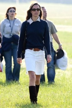 Catherine Middleton attending the Badminton Horse Trials in Gloucestershire. May 2007