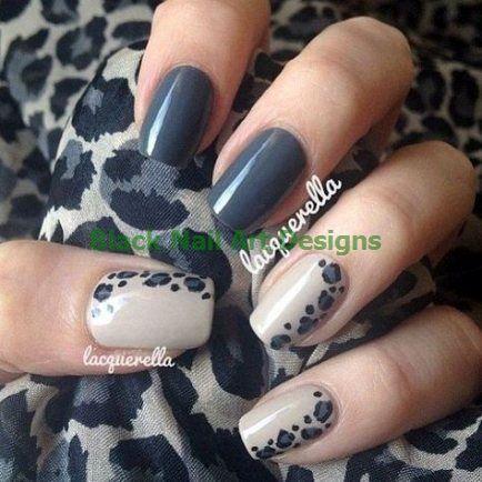 52+ trendy nails art grey black leopard prints