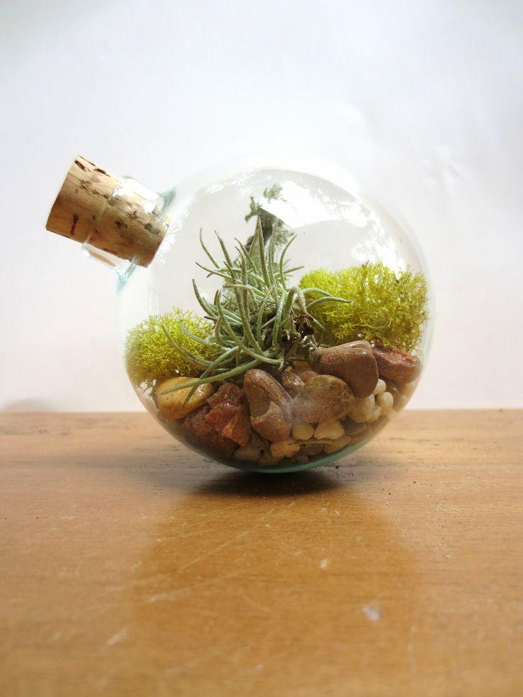 In perfect balance terrarium miniature desktop garden - Terrarium decoration miniature ...
