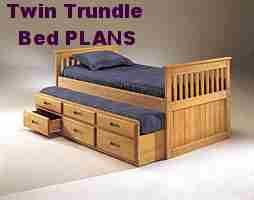 Captain's Bed PLANS   Simple Twin Size with Trundle Bed