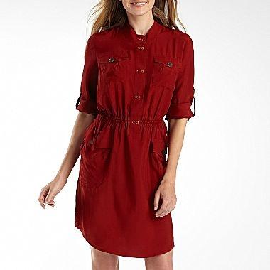 Worthington Shirt Dress - jcpenney   Work Clothes   Pinterest