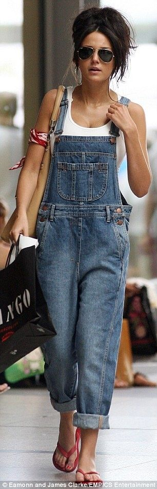 looooving overalls and crop tops right now, black or denim and a white short sleeved crop top - so cute!