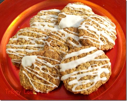 Iced Oatmeal Applesauce cookies