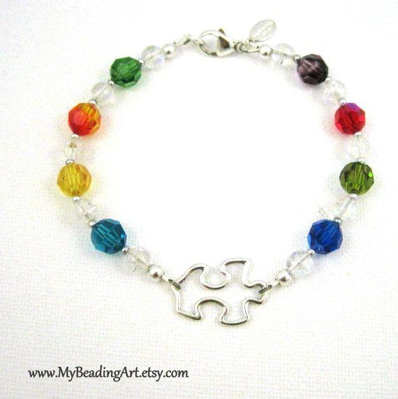 Autism Bracelet Autism Jewelry Charity Bracelet by MyBeadingArt, $50.00