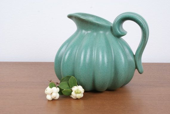 Pitcher vase shaped as a melon from Danish by Danishartpottery