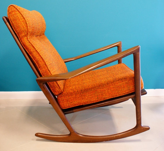modern rocking chairs mid century furniture danish modern rockers teak ...