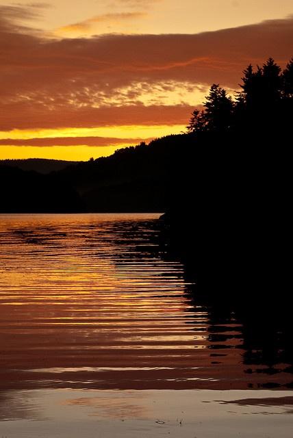 Sunset at Solina Lake