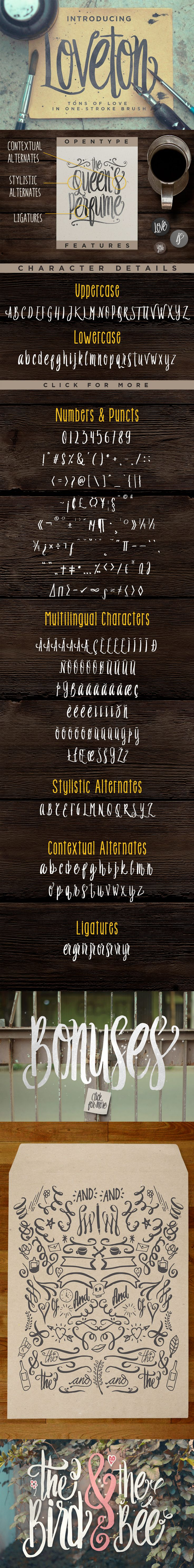 Loveton Typeface Font by Irwanismoyo | 22 Professional & Artistic Fonts Apr 2015