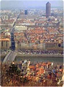 Lyon, France view from the top of the hill. lyon is spectacular and  has many sights to see... vue sur le Crayon (la tour de La Part Dieu) depuis Fourvière
