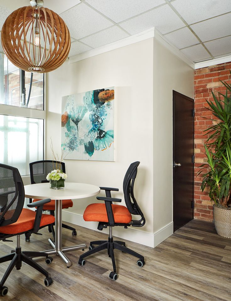 Assessment Room. Designed by Rhonda Moscoe Interior Design, Toronto, Ontario . Healing Centre. Wheel Chair Accessible. Walnut. Architectural Lighting. Product Shelves. POS. Yoga Room. Yoga  Medical Examination Room, Change rooms.  Space. Commercial kitchen. Product Room.