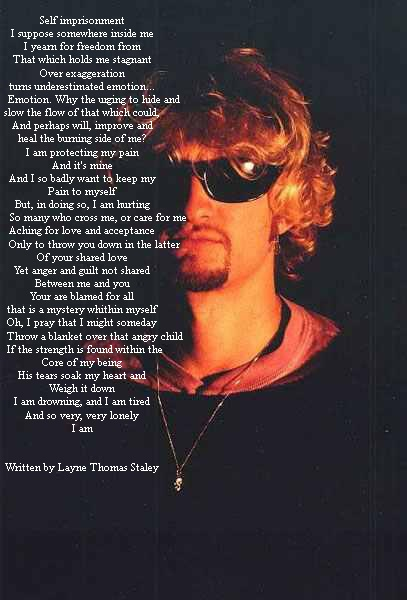 'Core' by Layne Staley. Died from a drug overdose..........