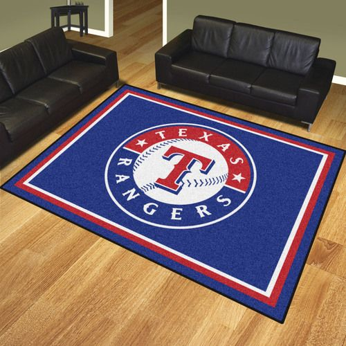 Texas Rangers 8' X 10' Decorative Ultra Plush Area Rug
