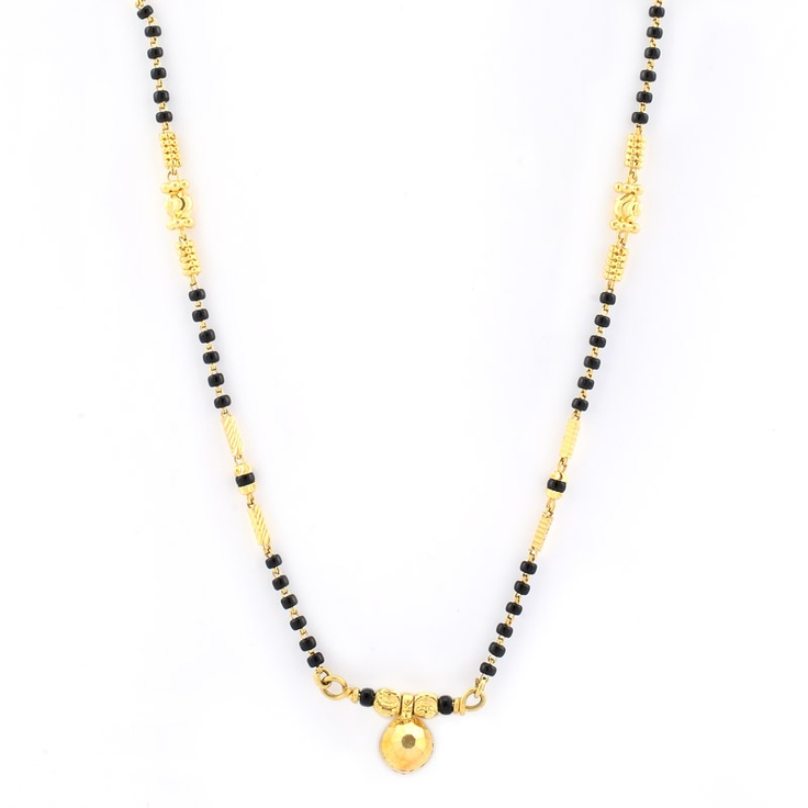 GRT | Collections | Gold | Necklace | Mangalsutra - Black Beads Necklace