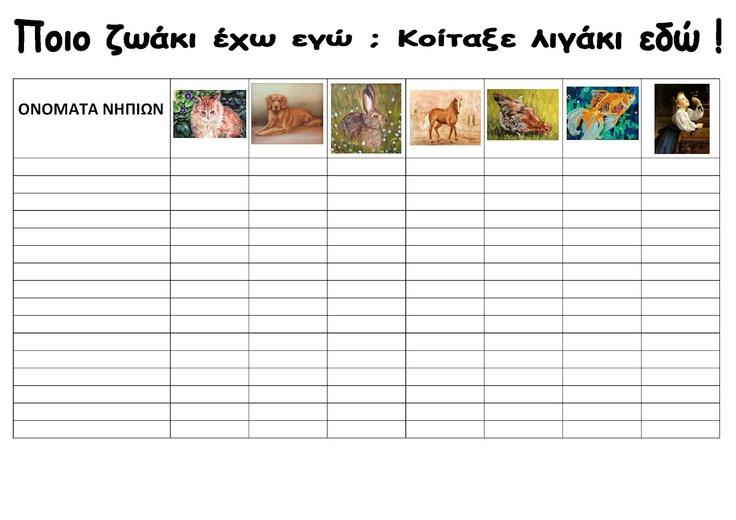 """dreamskindergarten Το νηπιαγωγείο που ονειρεύομαι !: Έργα τέχνης με θέμα """" Αγαπώ τα ζώα΄"""" και μαθηματικά"""