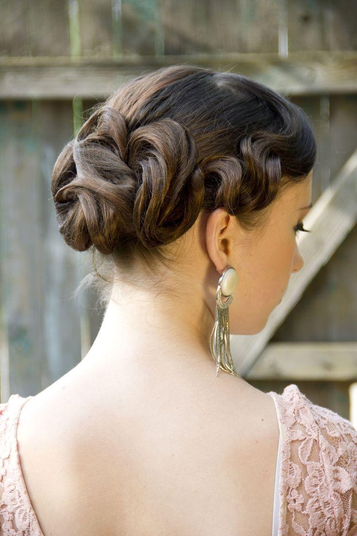 прическа на сетках с ретро волной, Свадебные прически и макияж, Ретро свадьбы