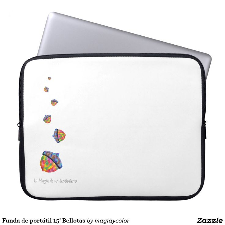 Funda de portátil 15' Bellotas - Notebook cover - #Shop #Gift #Tienda #Regalos #Diseño #Design #LaMagiaDeUnSentimiento #MagiaYColor #ElBosqueDeXana #MaderaYManchas #colors #card #acorn #bellota #colores #portatil #notebook #15