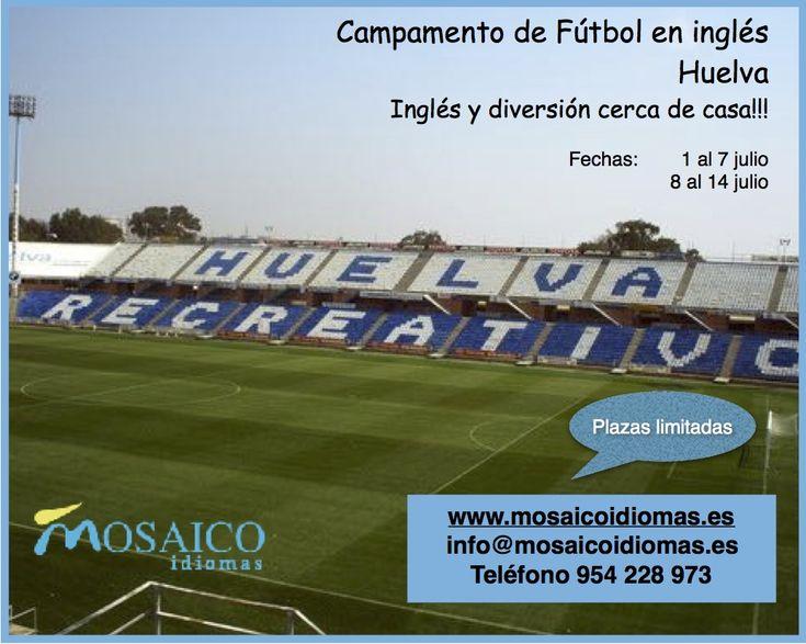 Campamento de fútbol en inglés con los entrenadores del Recreativo de Huelva. Disfruta del verano.