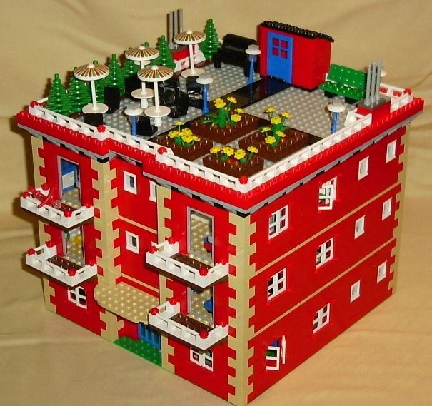 lego city ideas | LEGO instructions for Apartment Building model by Lions Gate Models