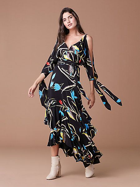 a711a0bfa97a The DVF Eloise Midi Dress Two | Casual dress | Dresses, Diane von ...