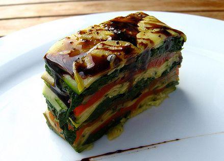 Vegetarian option for salmon terrine- Grilled Vegetable Terrine Recipe