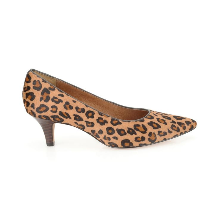 Clarks Leopard print Estate Copper mid heeled pointed court shoe- at Debenhams.com