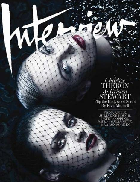 Charlize Theron and Kristen Stewart for the June/July 2012 issue of Interview magazine.