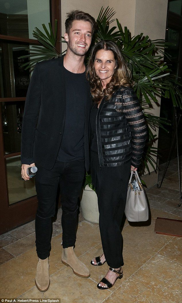 Actor Patrick Schwarzenegger and journalist mother Maria Shriver attended the Generosity Water launch at The Beverly Hills Montage hotel on March 22, 2016