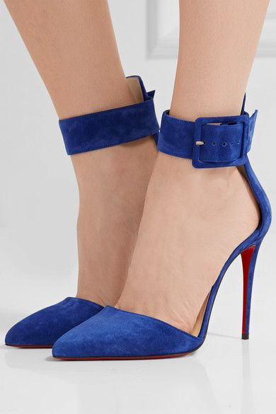 Christian Louboutin - Harler 100 Suede Pumps - Royal blue - IT39.5
