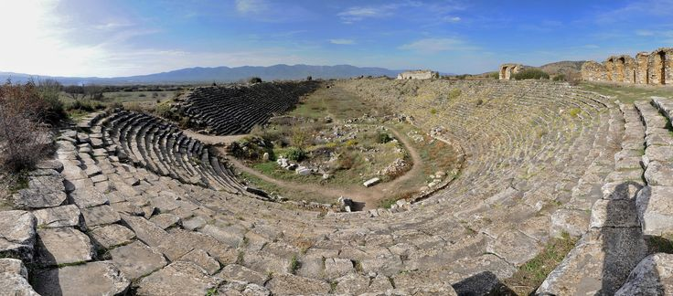 Aphrodisias Stadium  Date First Century A.D.  Capacity 30,000  Length 270 m (890 ft)  Width 60 m (200 ft)  Track Length 225 m (738 ft)  Track Width 30 m (98 ft)  Seat Rows 30 #archeology #stadium