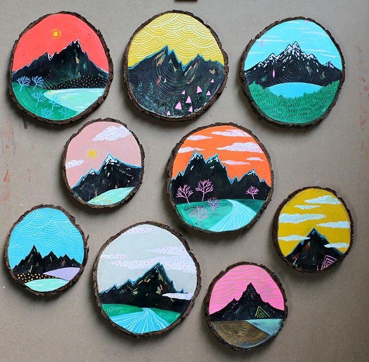 Cathy McMurray--Mini paintings on cedar