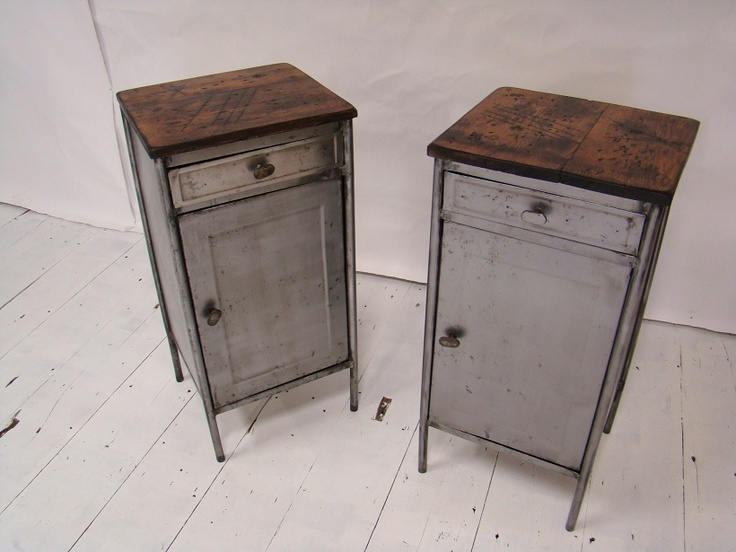 Vintage Industrial Bedside Cabinets House Ideas