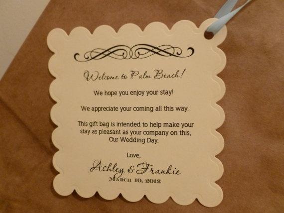 Welcome Basket Card Wedding Ideas Pinterest Weddings