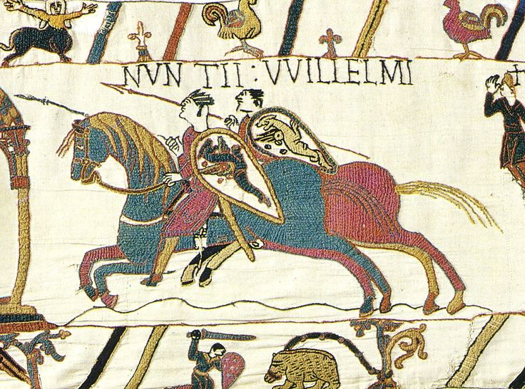 It's nearly impossible to photograph, so I can't seem to find anything that does it justice, but the Bayeux Tapestry is one of the most astonishing things I've ever seen. Seriously incredible embroidery.