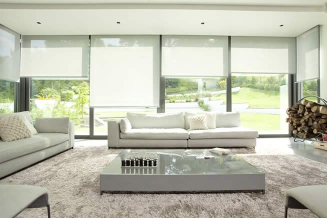 Usually roller blinds are automated as it is impossible to fit the chains and make them child safe.