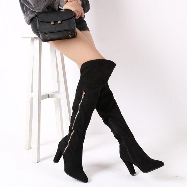 Ucuz Seksi yüksek topuklu uyluk yüksek çizmeler kadın sonbahar İlkbahar bayan boots ayakkabı kadın, Satın Kalite Over-the-Diz Çizmeler doğrudan Çin Tedarikçilerden: Real leather thigh high boots women for winter autumn Fashion crystal heels women shoesUSD 55.00/pairSexy high heels thi