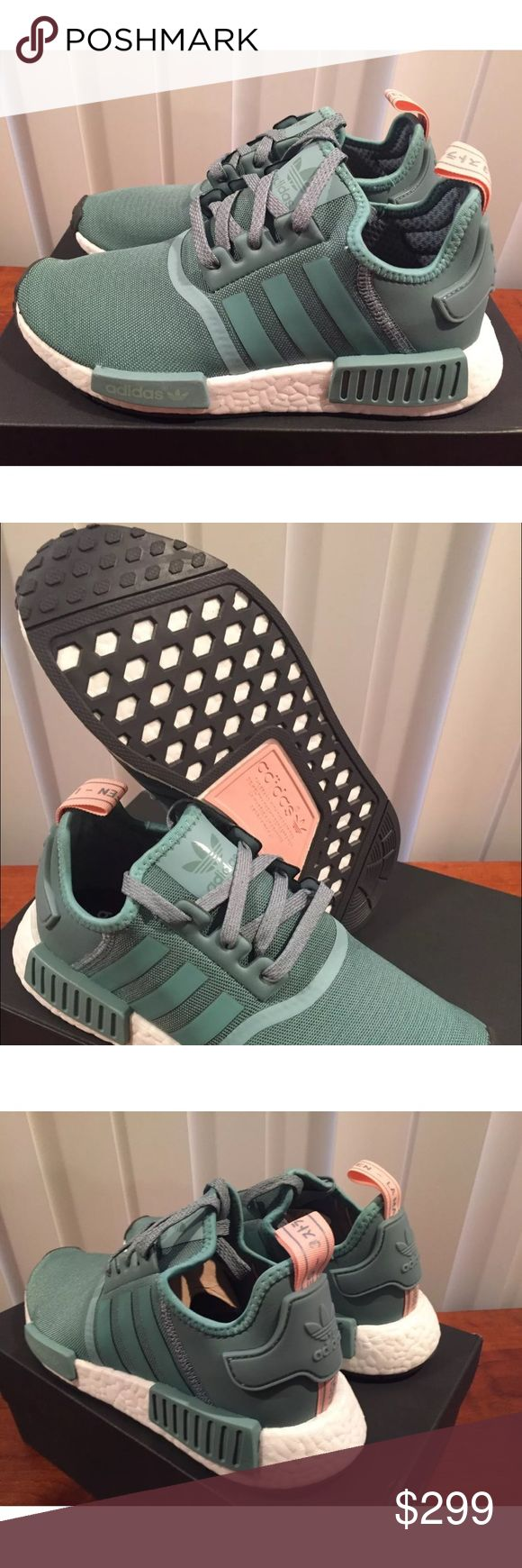 Adidas NMD R1 Vapour Steel Green Pink Wmns 7 BNIB! BNIB 100% Authentic Adidas NMD_R1 Vapour Steel Green Pink Wmns Size 7 Sold Out Worldwide! Last Pair In This Size! Adidas Shoes Athletic Shoes
