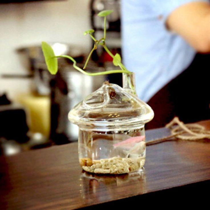 Vaso Vetro A Forma Di Casa Porta Fiore Piante Decorazioni Casa Giardino, Appendibile, Misura 11x10cm: Amazon.it: Casa e cucina