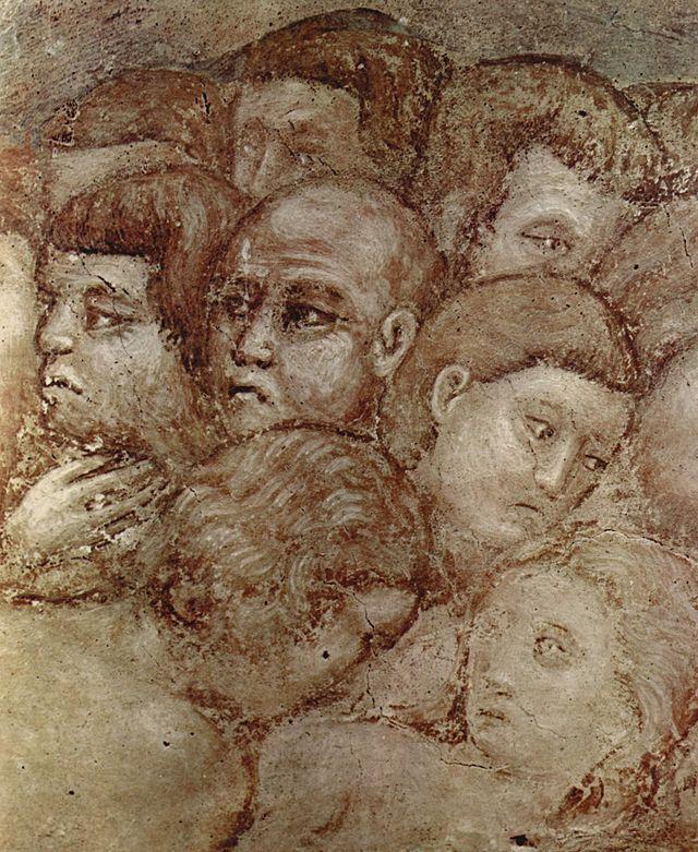 "Pietro Cavallini. ""El JUICIO FINAL"" (detalle). Pintura al fresco. Hacia 1293. Iglesia de Santa Cecilia in Transtevere, Roma."