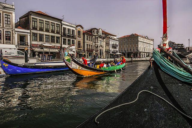 Canales en la ciudad de Aveiro, en Portugal