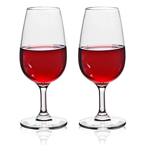MICHLEY Unbreakable Wine Glasses, 100% Tritan Shatterproof Wine Glasses, BPA-free, Dishwasher-safe 7.8 oz, Set of 2 -- Be sure to check out this awesome product.